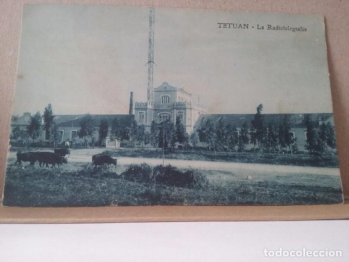 TETUAN. LA RADIOTELEGRAFIA. FOTO RUBIO. 1920. (Postales - España - Sin Clasificar Moderna (desde 1.940))