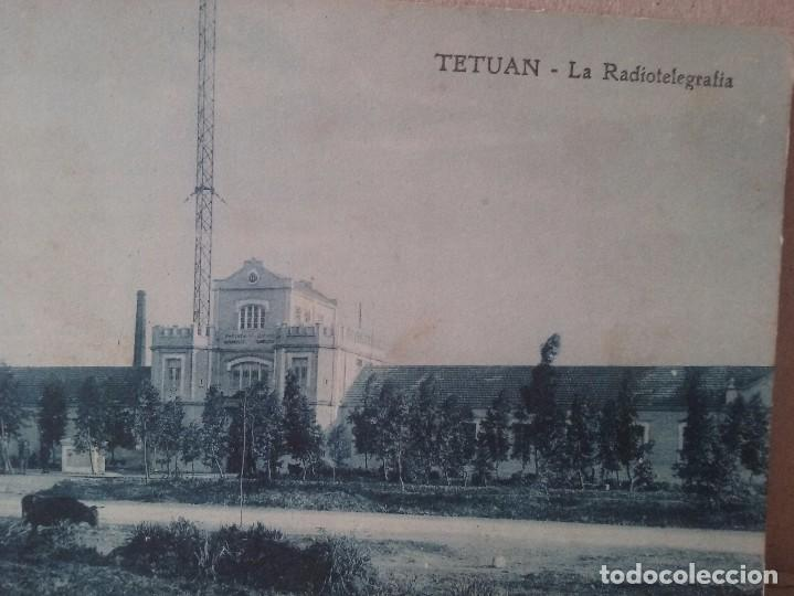 Postales: TETUAN. La radiotelegrafia. Foto Rubio. 1920. - Foto 2 - 93369440
