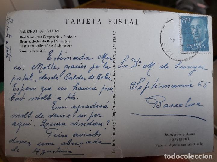 Postales: Sant Cugat del Valles, Real monasterio, Campanario y cimborrio, ed. A. Campaña, 1940 serie 1, nº305 - Foto 2 - 93860410