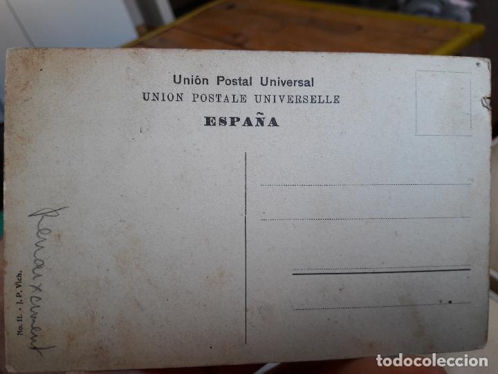 Postales: Vich, Claustre del Ex-convent dels Dominies, J.P.Vich, Union Postal, 1900 - Foto 2 - 93867615