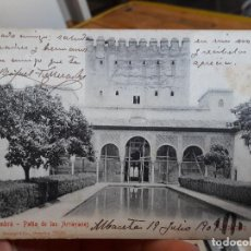 Postales: GRANADA, ALHAMBRA, PATIO DE LOS ARRAYANES, 1905, STENGEL&CO. 28538 CIRCULADA. PRECIOSA. Lote 93894035