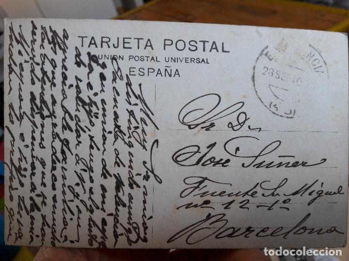 Postales: Valencia, Patio Marques de dos aguas, J.F.N, nº25, 1910, escrita, preciosa - Foto 2 - 93894120