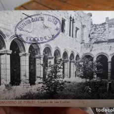 Postales: MONASTERIO DE POBLET, CLAUSTRO DE SAN ESTEBAN, ED. THOMAS, Nº20, 1920, CIRCULADA. Lote 93894770
