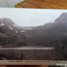 Postales: LAGO JERBE, LERIDA, FRENTE NTRA. SRA. DE LAS ARAS, ED. FOT. M. SOLE, 1950M SIN CIRCULAR, RARISIMA. Lote 93895260