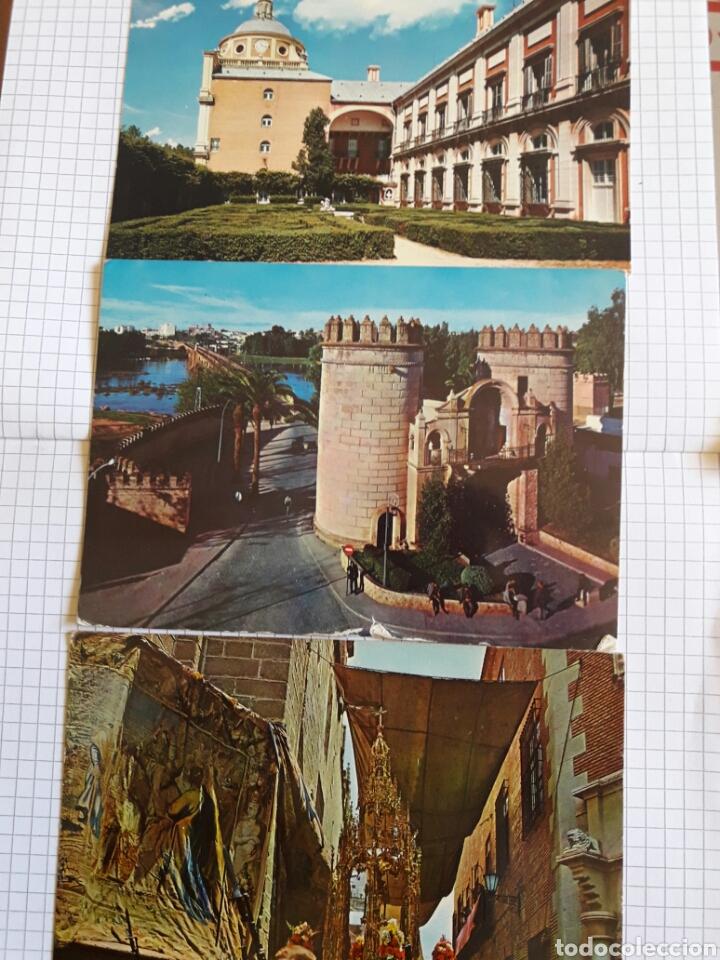 LOTE 3 POSTALES ARANJUEZ, BADAJOZ, TOLEDO (Postales - España - Sin Clasificar Moderna (desde 1.940))