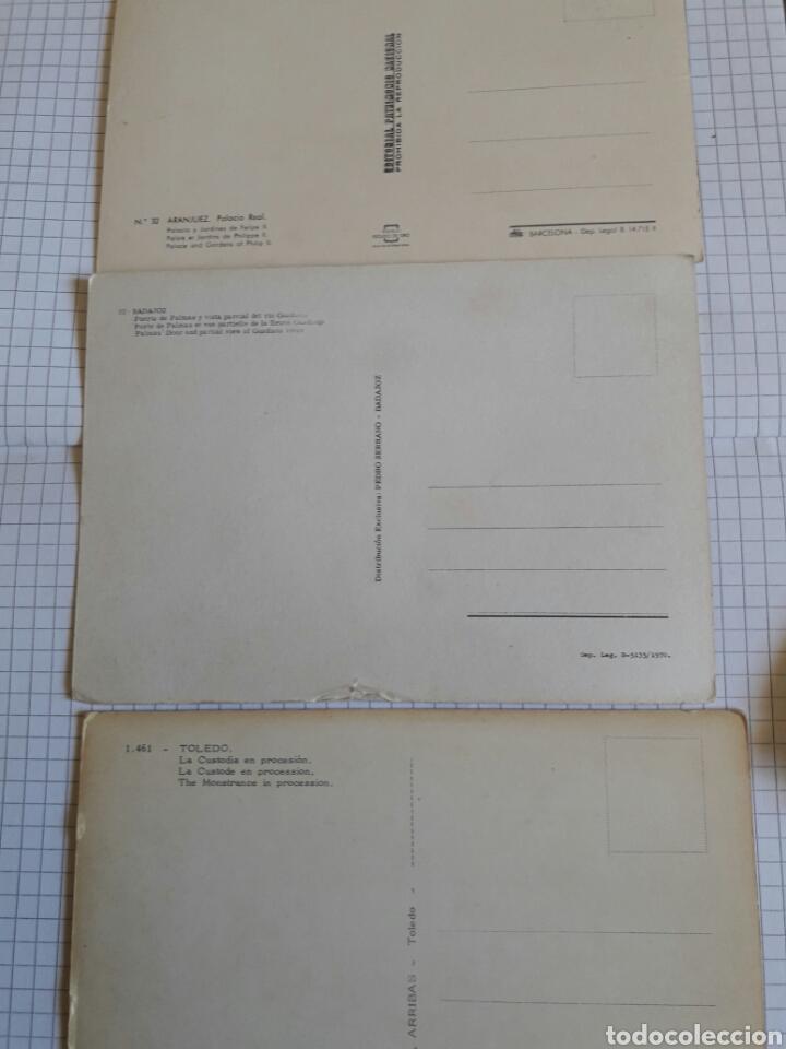 Postales: Lote 3 postales Aranjuez, Badajoz, Toledo - Foto 2 - 94379766