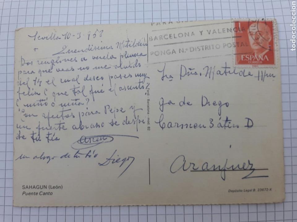 Postales: Antigua postal circulada León 1968 - Foto 2 - 94340674