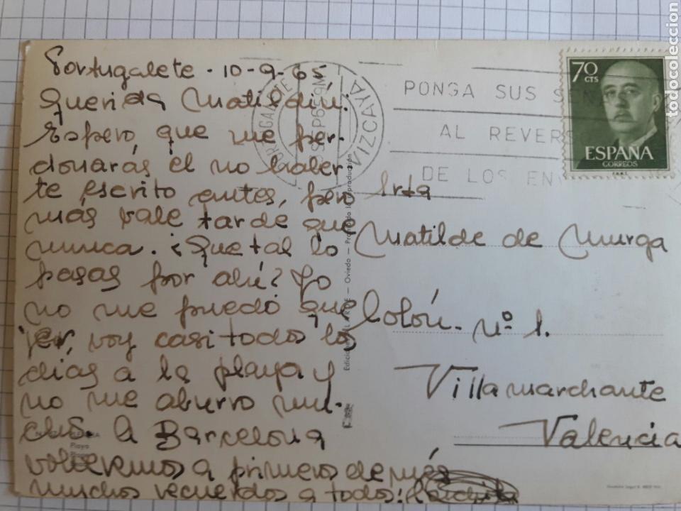 Postales: Postal circulada Oviedo 1965 - Foto 2 - 94382627