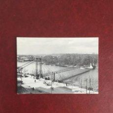 Postales: POSTAL PASARELA COLGANTE SOBRE EL EBRO. ZARAGOZA, ABRIL DE 1936. Lote 95082827