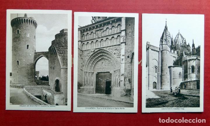 Postales: carpeta con 14 postales de Transición del Románico al Gótico. - Foto 2 - 96442535
