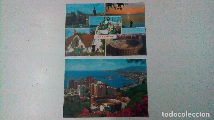 DOS POSTALES, UNA DE VALENCIA Y OTRA DE MÁLAGA, DE LOS AÑOS 70 (Postales - España - Sin Clasificar Moderna (desde 1.940))