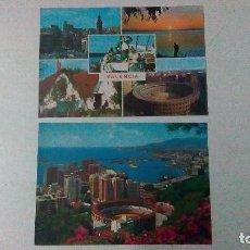 Postales: DOS POSTALES, UNA DE VALENCIA Y OTRA DE MÁLAGA, DE LOS AÑOS 70. Lote 99181819
