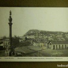 Postales: POSTAL - ESPAÑA - BARCELONA - 244.- MONUMENTO A COLÓN, MUSEO MARÍTIMO, ATARAZANAS - J.V.B - ESCRITA . Lote 100768347