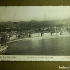 Postales: POSTAL - ESPAÑA - SAN SEBASTIAN - LA CONCHA A VISTA DE PÁJARO - MADYMA - ESCRITA AÑO 1953. Lote 100768467