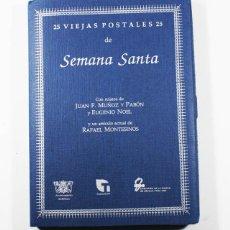Postales: 25 VIEJAS POSTALES DE SEMANA SANTA COMISARIA SEVILLA 1992 CAJA + LIBRILLO + POSTALES, NUEVAS. Lote 101766767