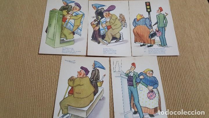 LOTE 5 POSTALES CHISTE EN CATALAN. (Postales - España - Sin Clasificar Moderna (desde 1.940))