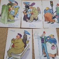 Postales: LOTE 5 POSTALES CHISTE EN CATALAN.. Lote 103343635