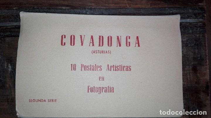 10 POSTALES ARTISTICAS COVADONGA ASTURIAS (Postales - España - Sin Clasificar Moderna (desde 1.940))