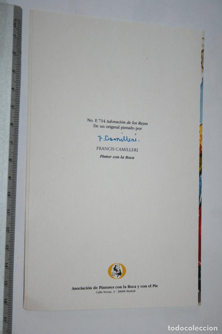 Postales: ADORACIÓN DE LOS REYES (Francis Camilleri) *** POSTAL REPRODUCCION DE OBRA *** PINTOR CON LA BOCA - Foto 2 - 108059811