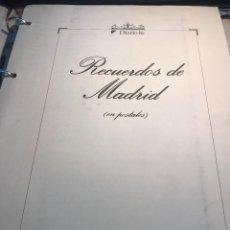Postales: RECUERDOS DE MADRID - ALBUM DE 102 REPRODUCIONES DE POSTALES - FORTUNA Y DIARIO 16. Lote 111226447