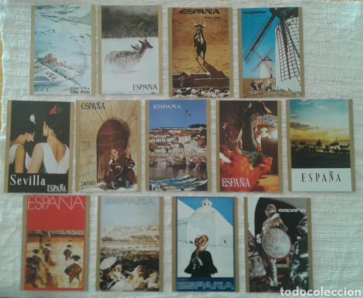 LOTE 13 POSTALES COLECCIÓN CARTELES TURÍSTICOS DE ESPAÑA (Postales - España - Sin Clasificar Moderna (desde 1.940))
