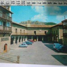 Postales: ANTIGUA Y BONITA FOTO POSTAL AÑOS 70-80 PLAZA CAUDILLO ALBARRACIN AYUNTAMIENTO.SEAT 600, L 4,147. Lote 114286806