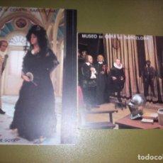 Postales: MUSEO DE CERA DE BARCELONA - LOTE DE DOS POSTALES. Lote 116757579