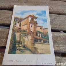 Postales: TARJETA POSTAL GRANADA BALCON DE LOS PINTORES EL AGUILA REAL TINTORERIA. Lote 118176239