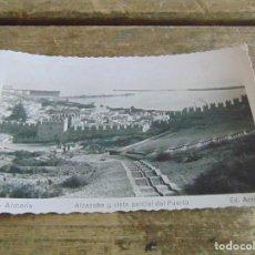Postales: TARJETA POSTAL ALMERIA ALCAZABA Y VISTA PARCIAL DEL PUERTO. Lote 118195831