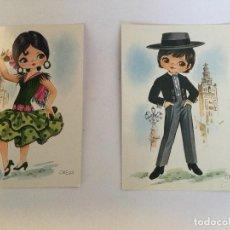 Postales: POSTALES VINTAGE KITCH POP AÑOS 60 ESPAÑA SOUVENIR. Lote 118345191