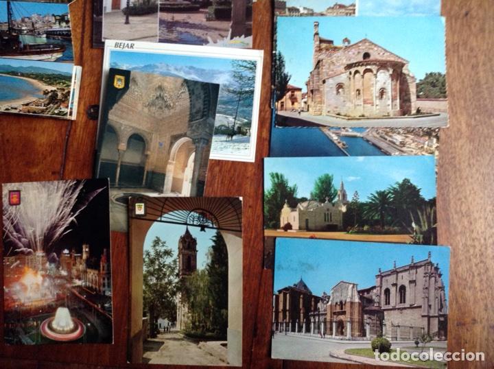 Postales: Lote de 20 postales y dos tiras de ciudades España años 60-70 - Foto 4 - 118836922