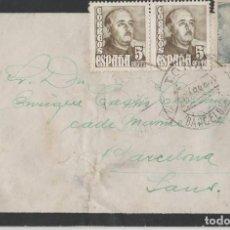 Postales: SOBRE CON SELLOS 1952 BARCELONA. Lote 119304211