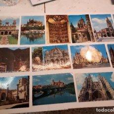 Postales: LOTE 21 POSTALES MOTIVOS CATEDRALES DE ESPAÑA. Lote 120341839