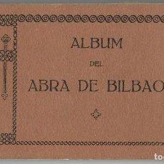 Postales: ALBUM 18 POSTALES ABRA BILBAO LAS ARENAS NEGURI ALGORTA PORTUGALETE - L.G AÑOS 20 /30'S. Lote 123571127