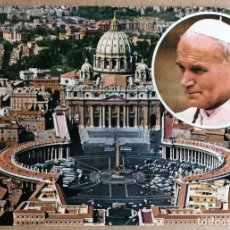 Postales: TARJETA POSTAL POSTALES PUBLICIDAD PLAZA DE SAN PEDRO JUAN PABLO II ROMA ITALIA. Lote 124226235