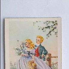 Cartes Postales: POSTAL- PAREJA ENAMORADA- JBR 201, SIN CIRCULAR, CON PURPURINA _MA. Lote 126626115