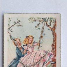 Cartes Postales: POSTAL- JOVEN COLUMPIANDO A SU PAREJA- JBR 201, SIN CIRCULAR, CON PURPURINA _MA. Lote 126626851