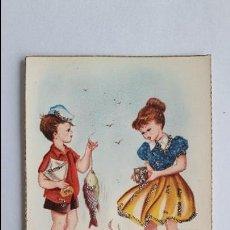Cartes Postales: POSTAL- NIÑOS JUGANDO A LA ORILLA DEL MAR- RAM 132/E, SIN CIRCULAR, CON PURPURINA _M. Lote 126628535