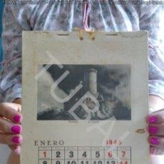 Postales: TUBAL 1945 CALENDARIO CON 12 POSTALES 25 CM 300 GRS VALLADOLID TOLEDO CORUÑA ZARAGOZA CANARIAS K1. Lote 129688175