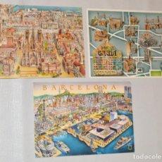 Postales: 3 POSTALES - DIORAMAS - JOSEP OPISSO - BARCELONA. Lote 130138011