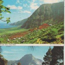Postales: LOTE POSTALES CANARIAS HIERRO SAN MIGUEL DE LA PALMA AÑOS 70 JONH HINDE. Lote 130575590