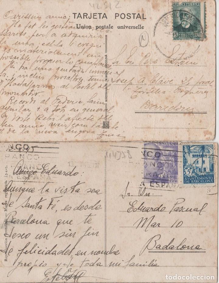 Postales: LOTE POSTALES ANTIGUAS ESPAÑA CON SELLOS - Foto 2 - 130576350