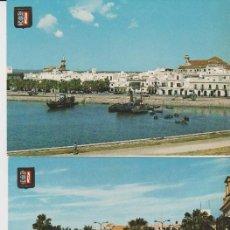 Postales: LOTE DE 3 POSTALES AYAMONTE HUELVA AÑOS 60. Lote 130664218