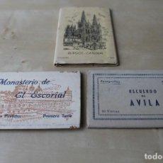 Postales: LIBROS DE TARJETAS POSTALES. AVILA, CATEDRAL DE BURGOS, EL ESCORIAL. Lote 130719379