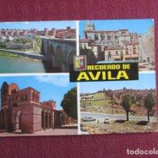 Postales: 5666 SPAIN ESPAÑA ESPAGNE CASTILLA Y LEÓN AVILA RIO ADAJA Y MURALLAS PLAZA CALVO SOTELO. Lote 131008492