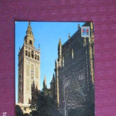 Postales: 5669 SPAIN ESPAÑA ESPAGNE ANDALUCIA SEVILLA LA CATEDRAL Y LA GIRALDA 1971. Lote 131010116