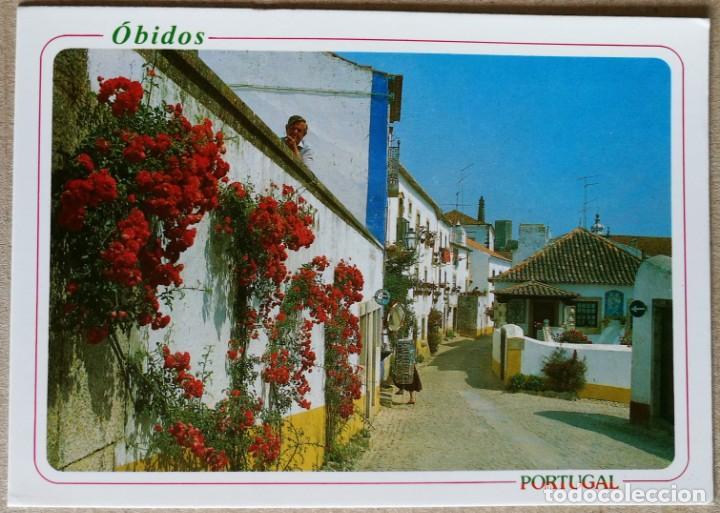 TARJETA POSTAL POSTALES PUBLICIDAD OBIDOS PORTUGAL (Postales - España - Sin Clasificar Moderna (desde 1.940))