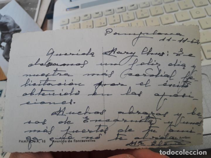 Postales: Pamplona, Avenida de Roncesvalles, ed. Arribas, nº 18 años 40 - Foto 2 - 135134978