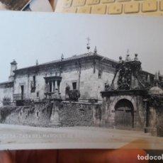 Postales: ALCEDA, CANTABRIA, CASA DEL MARQUES DE MERCADAL, SIN EDITORIAL, CENSURA MILITAR DE BURGOS, RARA. Lote 135140594