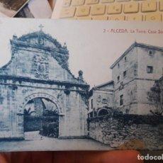Postales: ALCEDA, CANTABRIA, LA TORRE, CASA SOLARIEGA, ED. FERNANDEZ, Nº3, 1940. Lote 135140690